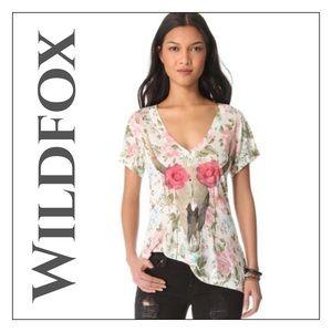 Wildfox Desert Rose V-Neck Tee